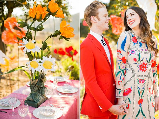 Tự tạo cả một vườn hoa giấy khổng lồ ở nhà để tổ chức đám cưới