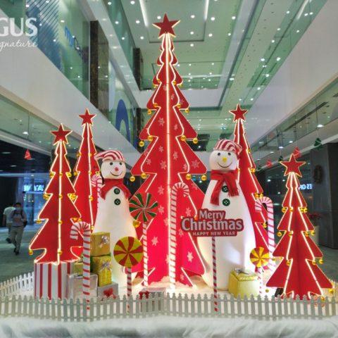 Ogus Nam tiến – trang trí Giáng sinh sảnh tòa nhà Viettel TPHCM
