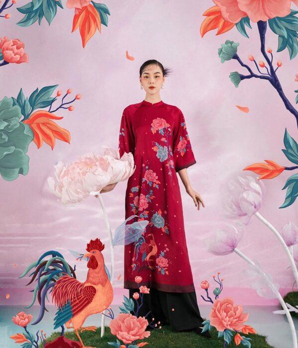 hoa trang trí khổng lồ sự kiện thời trang đẹp ý tưởng sáng tạo (9)